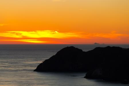 san fran: Sunset over the ocean