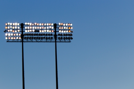 Stadium lights over a blue sky Stock Photo - 17057677