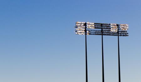 Stadium lights over a blue sky Stock Photo - 17057671