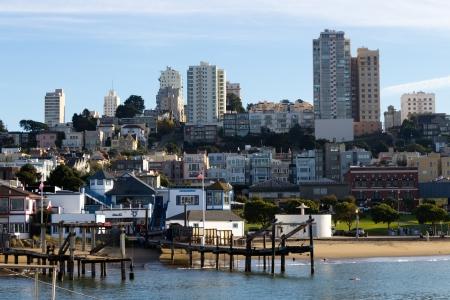 san fran: Residential areas in San Francisco Editorial