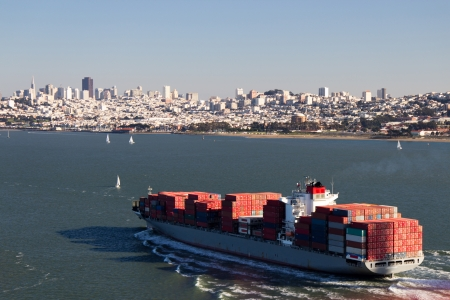 seaway: Container Ship in the San Francisco Bay