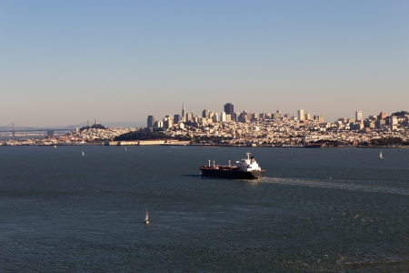 Cargo Ship in the San Francisco Bay Stock Photo - 17057720