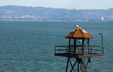 Alcatraz prison guard tower Stock Photo - 17055694