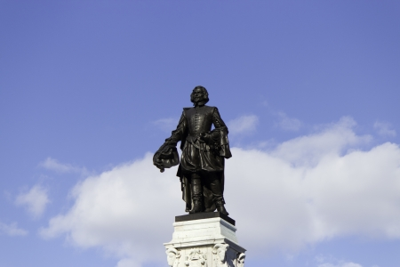 samuel: Statue of Samuel de Champlain in old Quebec City, Canada.