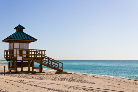 guard house: Lifeguard hut in Sunny Isles Beach, Florida