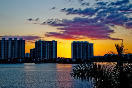 intercoastal: Condominium buildings in Miami, Florida. Editorial