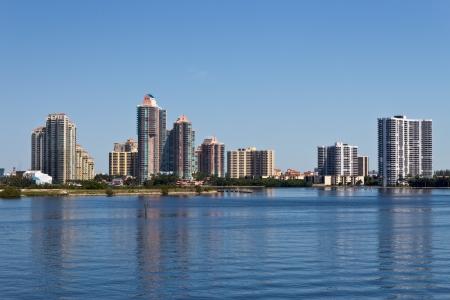 마이애미, 플로리다에있는 콘도 건물. 에디토리얼