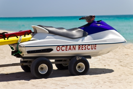 Lifeguard personal water craft rescue vehicle photo