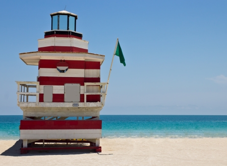 South Beach lifeguard hut in Miami, Florida photo