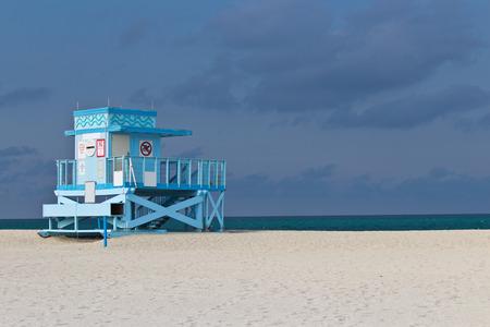 guard house: Lifeguard hut on Haulover Park Beach in Florida