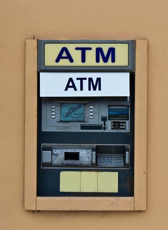 m�quina: Automatizado Banca autom�tico (ATM) Foto de archivo