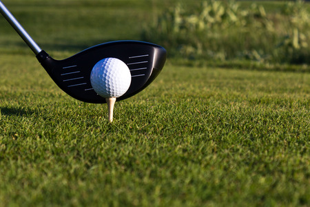 Golf ball and driver photo
