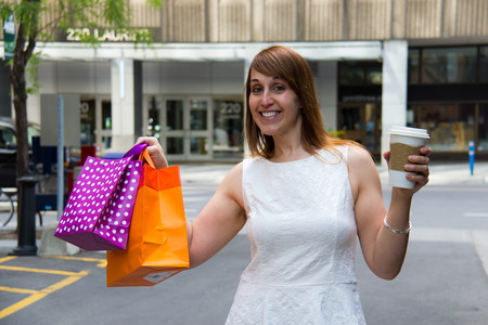 indulging: Indulging in a little shopping