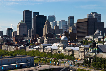Skyline view of the city of Montreal in Quebec, Canada