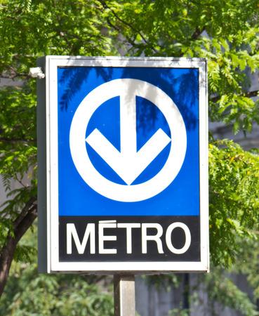 몬트리올 메트로 지하철 시스템을위한 독특한 간판