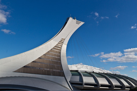 The Olympic Stadium in Monreal, Canada Editorial