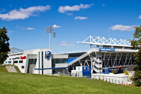 Saputo Stadium in Montreal, Quebec home of the Montreal Impact MLS soccer club