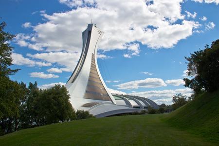 Het Olympisch Stadion in Monreal, Canada Stockfoto - 33814254