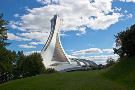 olympic stadium: The Olympic Stadium in Monreal, Canada Editorial