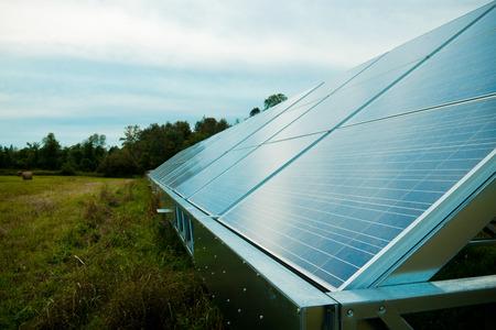 solarpanel: Solar energy panels in a farmers field