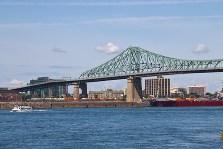 seaway: Jacques Cartier Bridge spanning the St. Lawrence seaway in Montreal, Canada