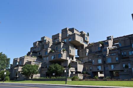 몬트리올, 캐나다에있는 Habitat 67의 모듈 형 건물 에디토리얼