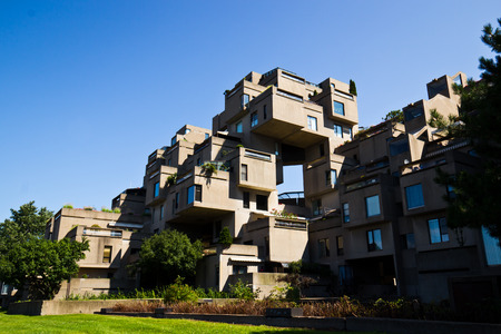 habitat: Modular buildings of Habitat 67 in Montreal, Canada
