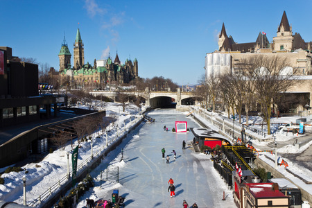 ottawa: The Rideau Canal in Ottawa, Canada