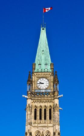 오타와, 캐나다의 의회 언덕 평화 타워