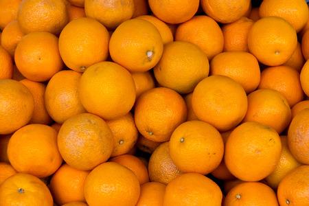 Group of ripe oranges Stock Photo