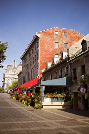 Street scene of Old Montreal