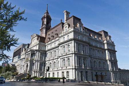 The old Montreal City Hall is a National Historic Site in Canada