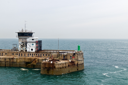 bulkhead: Man-made breakwater structure at port entrance