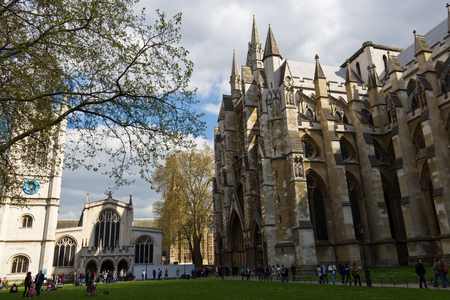 city of westminster: Westminster Abbey is a large, mainly Gothic abbey church in the City of Westminster, London, located just to the west of the Palace of Westminster.
