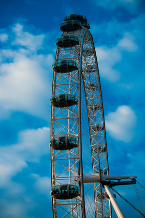 London Eye ferris wheel in London, England Editöryel