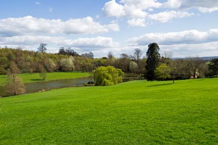 weald: Green natural landscape