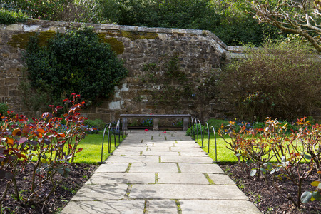 ornamental garden: Stone walking path in an ornamental garden