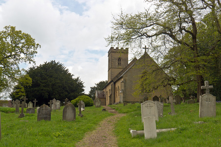Old church and graveyard in England