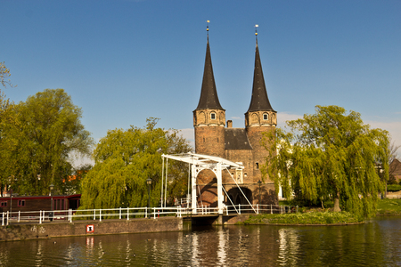 northern european: The Eastern Gate Oostpoort in Delft, an example of Brick Gothic northern European architecture, was built around 1400.