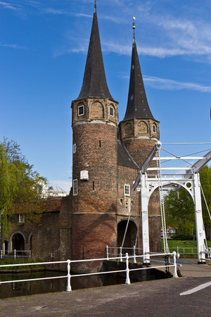 northern european: The Eastern Gate (Oostpoort) in Delft, an example of Brick Gothic northern European architecture, was built around 1400.