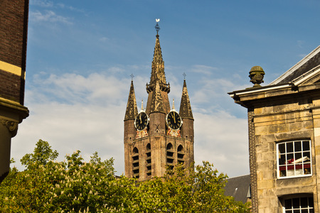 delft: Oude Kerk, the Old Church in Delft, Holland