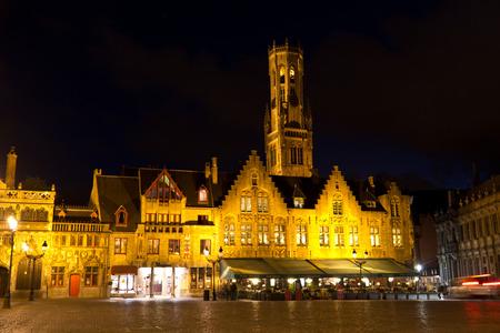 burg: The Burg Square in Bruges, Belgium during the evening