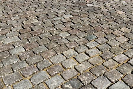 symetry: Close-up of cobblestone road
