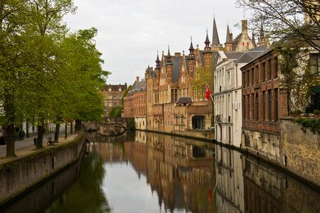 Mittelalterlichen Stadt Br�gge, Belgien mit seinen Kan�len