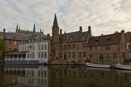 View from Rozenhoedkaai in Bruges