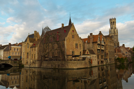 iconic: Iconic view of Bruges, Belgium