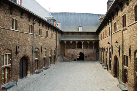 Medieval courtyard of the Belfry in Bruges