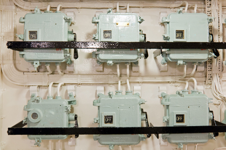 Group of industrial electrical junction boxes technology
