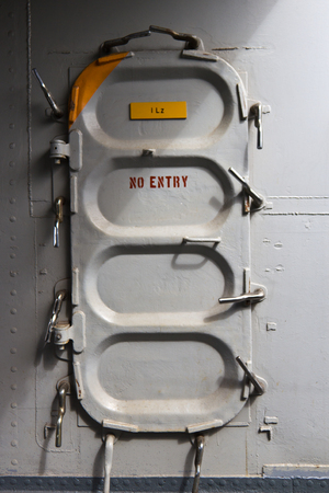 the hatch: Hatch opening on a military navy ship