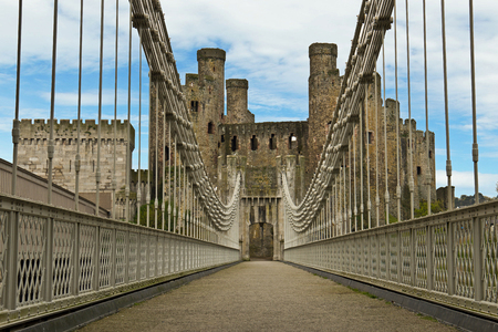 castle: Conwy Castle fortress in northern Wales